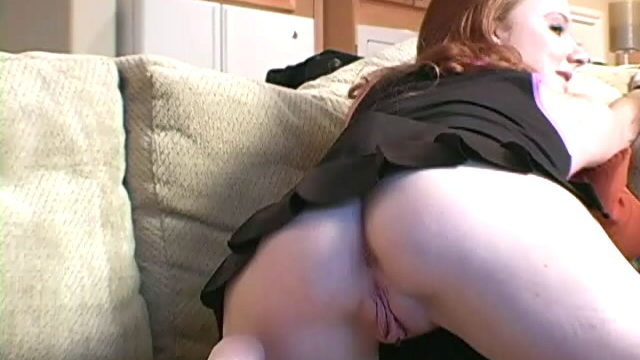 Purple Haired Little Doll Siren Halo Spreading Her Fuckable Rump And Bald Peggy's Parlor At The Sofa