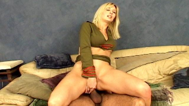 Very Good Blonde Military Hooker Celestia Big Name Masturbating Her Voluptuous Asshole
