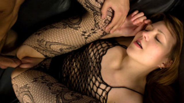 Crazy Teenage In Fishnet Ravaged