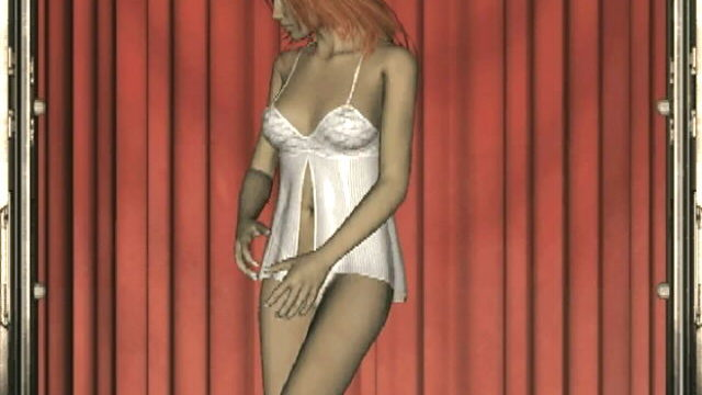 Crimson Haired 3-d Nubile Tart Lita Dancing In Her Gorgeous Milky Babydoll
