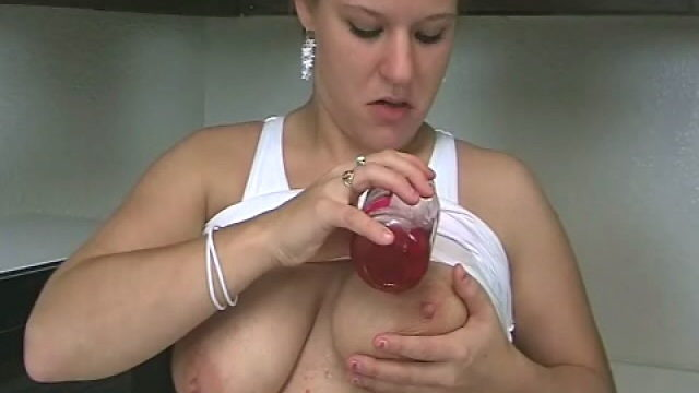 Meaty Meloned Towheaded Teenager Christy Stretching Cherries On Her Mind-blowing Figure Within The Kitchen