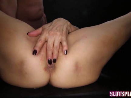Kinky Mature Blondie Gang-fucked And Creampied