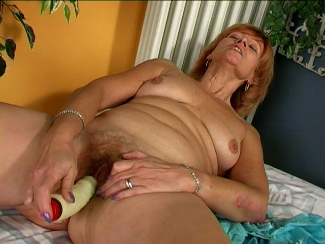 Sexually Aroused Sandy-haired Grandma Nymph Slurping A Ample Faux-cock With Passion