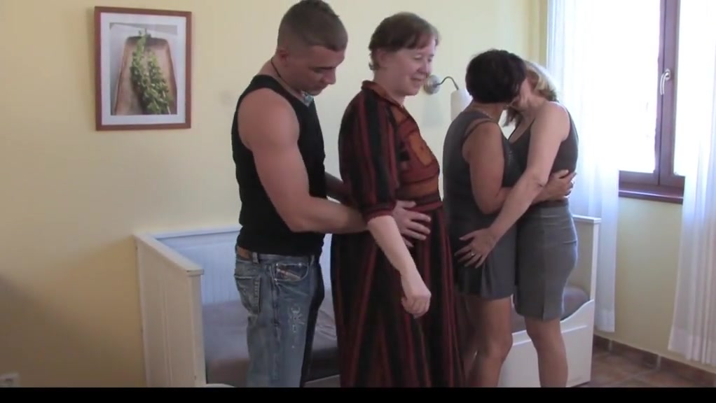 Unique Unexperienced Grandmothers, Mature Orgy Video