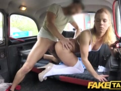 Faux Cab Nurse In Mind-blowing Underwear Has Automotive Orgy