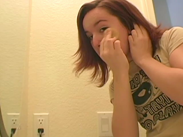 Fascinating Ginger-haired Teenage Annabella Getting Prepped For You Within The Reflect