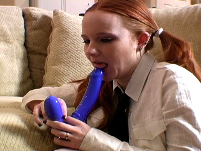 Lovable Ginger-haired Teenage Ex Gf In Ponytails Halo Inhaling A Thick Fucktoy