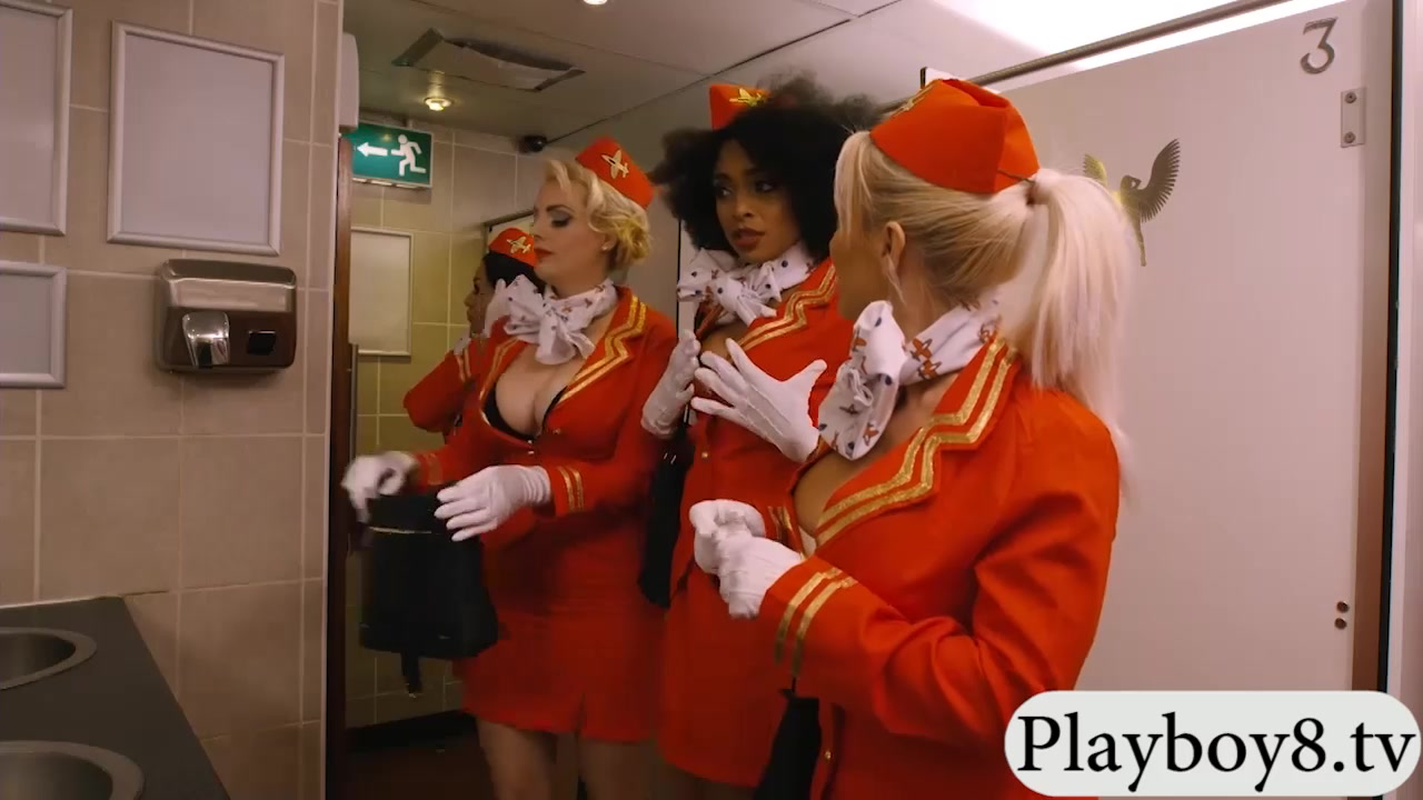 Dark-hued Stewardess Rode In Public Restroom