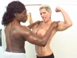 Damsel Bodybuilders Lubricated After Exercise