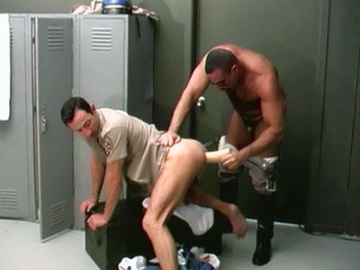 Fag Hunks Toying With A Faux-cock