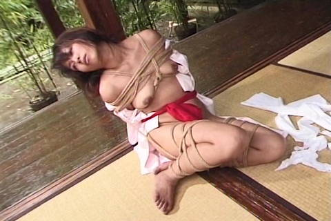 Chinese Restrained In Strap Restrain Bondage Outside Through Dom