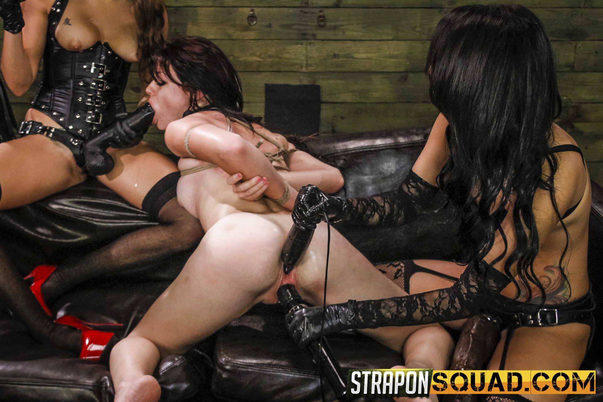 All Girl Dominance & Sybian Saddle Three-way With Kaisey Dean, Marina Angel, Esmi Lee