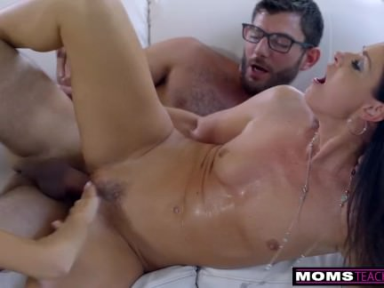 Mommy Plows Sonny & Gobbles Teenager Internal Ejaculation For Thanksgiving Handle