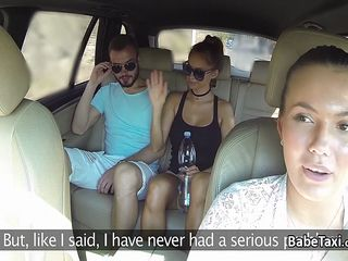 Teenager Chick Cab Motive Force Penetrates On Backseat