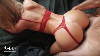 Red-hot Splendid Gf In Crimson Undergarments Pulverize & Busts!! Fledgling Duo Leolulu