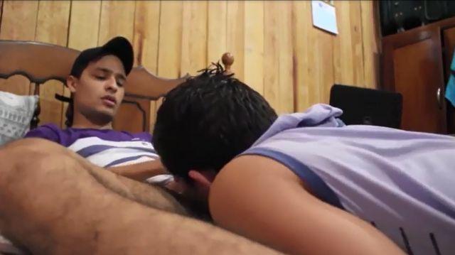 Homo Brazilian Guy Blowing Bi-curious Latino